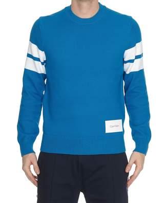 Calvin Klein Tape Yarn Stripe Sleeve Sweater