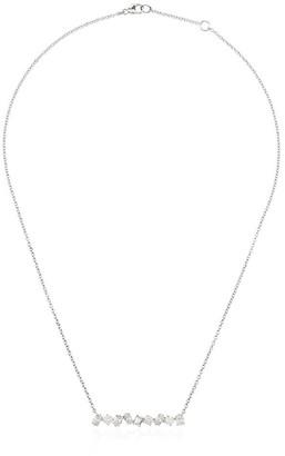 Kimberly Mcdonald 18kt white gold diamond bar necklace