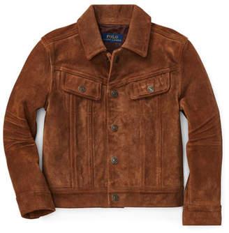 Ralph Lauren Suede Trucker Jacket, Size 2-4