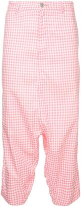 Comme des Garcons Pre-Owned gingham drop crotch trousers
