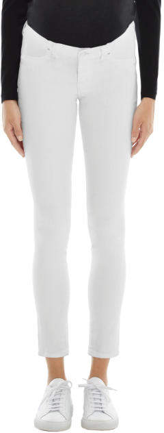 J BrandMama J Mid-Rise Skinny in Blanc