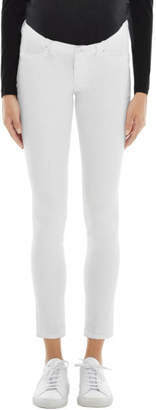 J Brand Mama J Mid-Rise Skinny in Blanc