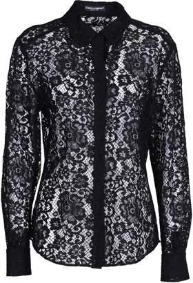 Dolce & Gabbana Floral Lace Shirt