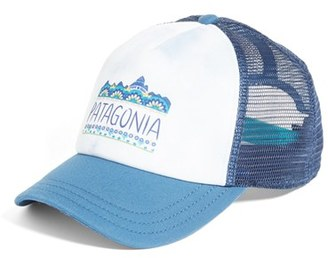 Women's Patagonia Femme Fitz Roy Interstate Trucker Hat - Blue $29 thestylecure.com