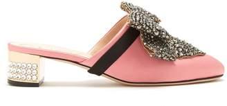 Gucci Crystal-embellished satin mules