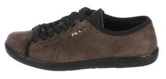 Prada Sport Suede Low-Top Sneakers