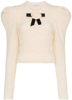 Philosophy di Lorenzo Serafini rose alpaca wool-blend knitted sweater