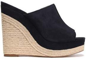 Michael Kors Suede Wedge Espadrille Sandals