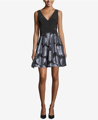 Xscape Evenings Printed Fit & Flare Dress