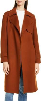 Theory Oaklane Wool & Cashmere Wrap Coat