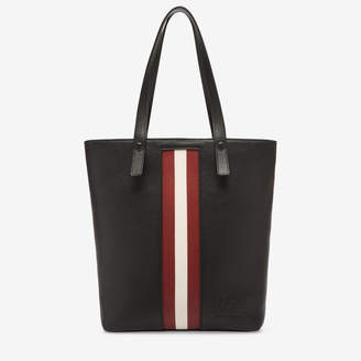 Bally Tess Black, Women's grained bovine leather tote bag in black