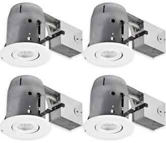 "Globe Electric Company Aline Swivel Round 5"" LED Recessed Individual Spotlight"