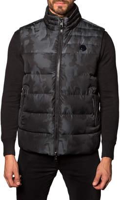 Jared Lang Aspen 2B Camo Puffer Vest, Black