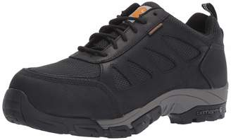 Carhartt Men's Lightweight Wtrprf Low-Height Work Hiker Carbon Nano Safety Toe CMO3481 Industrial Boot Black Leathe/Nylon 14 M US