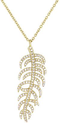 Diamond Select Cuts 14K 0.36 Ct. Tw. Diamond Leaf Necklace