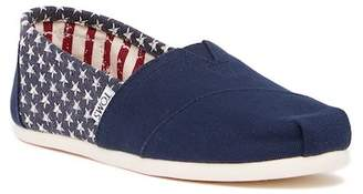 Toms American Navy Stars Canvas Slip-On Shoe