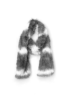 Gena Color Blocked Faux Fur Oblong