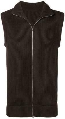Holland & Holland sleeveless Zipped Jumper