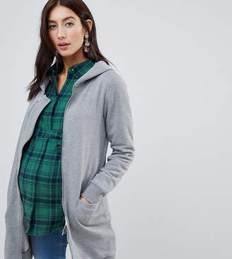Mama Licious Mama.licious Mamalicious pregnancy & beyond hoodie with zip out panel