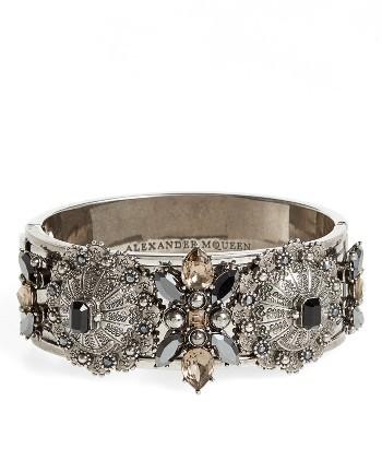 Alexander McQueenWomen's Alexander Mcqueen Jeweled Hinge Cuff
