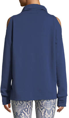 Key Stone Varley Keystone Cold-Shoulder Funnel-Neck Sweatshirt