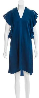 Lanvin Ruffle-Trimmed Shift Dress w/ Tags