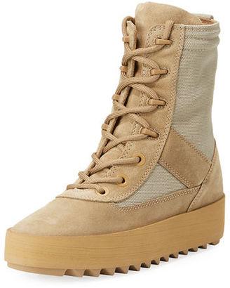 Yeezy Suede Platform Desert Boot $645 thestylecure.com