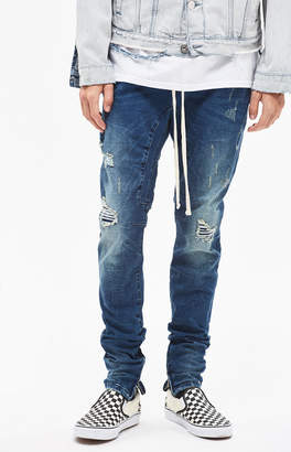 PacSun Drop Skinny Ripped Dark Denim Jogger Pants