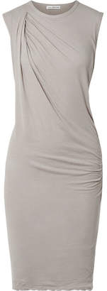 James Perse Nomad Draped Cotton-jersey Dress - Stone