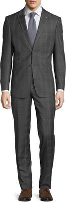 English Laundry Men's Check Two-Piece Suit, Gray