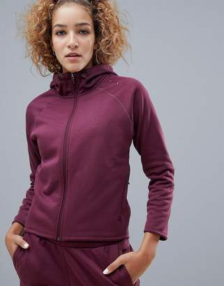 Puma Evostripe Full Zip Hoodie In Burgundy
