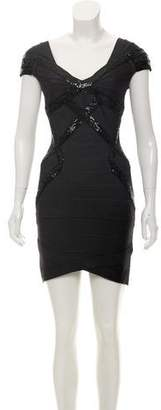 Herve Leger Sequin Bandage Dress