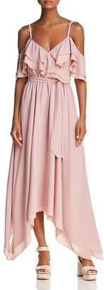 Rebecca Minkoff Hadlee Cold-Shoulder Goddess Maxi Dress
