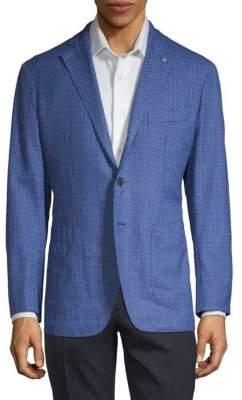 Textured Wool, Silk & Linen Jacket