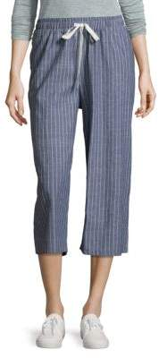 Lucca Couture Striped Cotton Cropped Pants