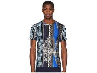 Versace Embelisshed Vertical Stripe T-Shirt