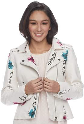 Candies Juniors' Candie's Floral Moto Jacket