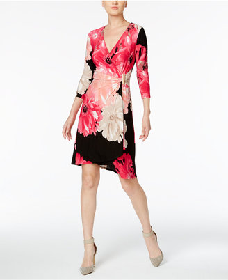 Calvin Klein Floral-Print Wrap Dress $109.50 thestylecure.com
