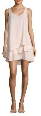 Parker Eve Layered Silk Dress $288 thestylecure.com