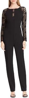 Ralph Lauren Jersey Lace-Sleeve Jumpsuit