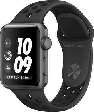 Apple AppleWatch Nike+ Series 3 GPS, 38mm Space Gray Aluminum Case with Anthracite/Black Nike Sport Band