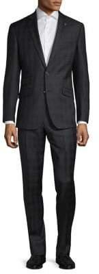 Ted Baker No Ordinary Joe Plaid Wool Suit