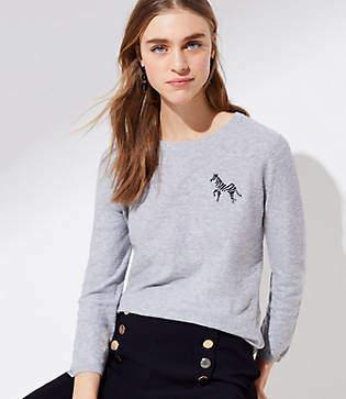 LOFT Zebra Sweater