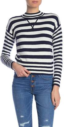 Madewell Striped Mock Neck Relaxed Fit Sweater