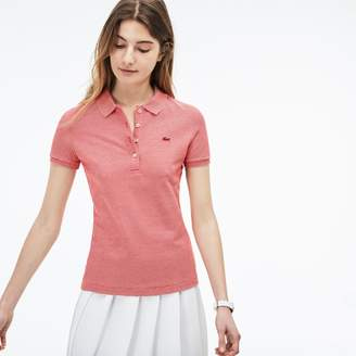 Lacoste Women's Slim Fit Pinstriped Pique Polo