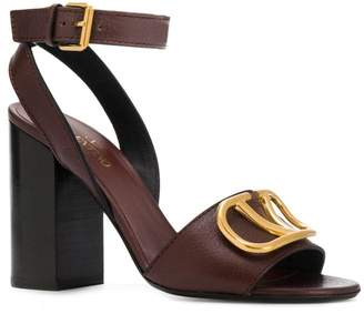 Valentino Garvani logo block heel sandals