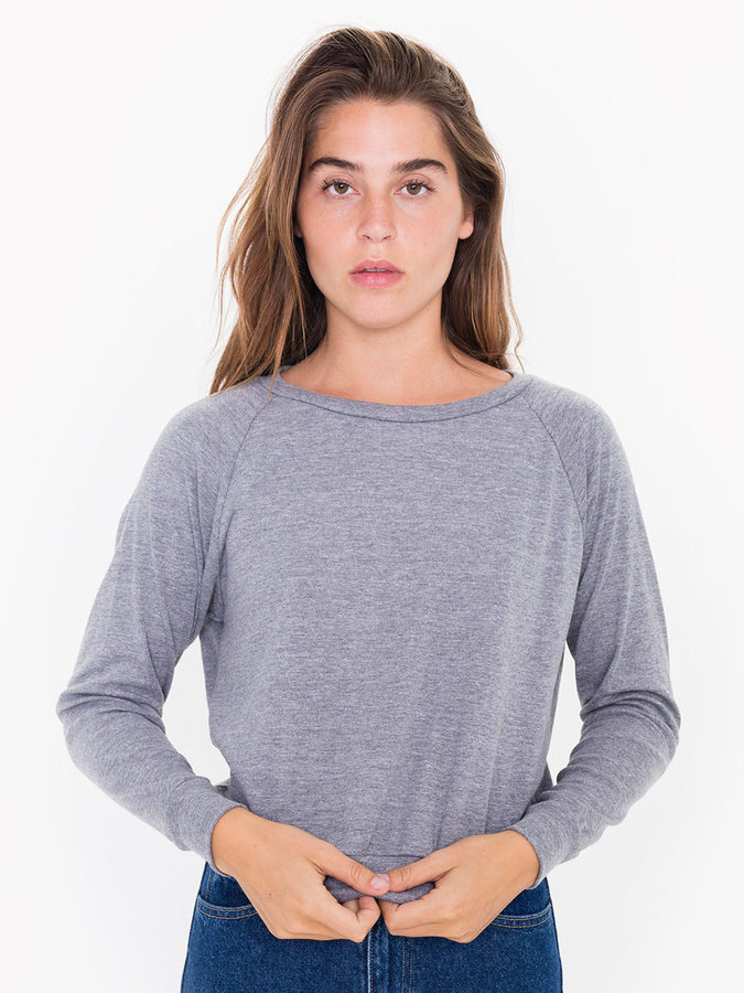 Tri-Blend Light Weight Raglan Pullover