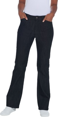 Denim & Co. Regular Perfect Denim Lightly Bootcut 5-Pocket Jeans