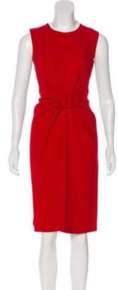 Prada Virgin Wool Knee-Length Dress Red Virgin Wool Knee-Length Dress