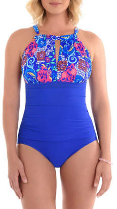Penbrooke One-Piece Floral-Printed Swimsuit